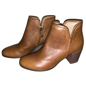 🆕 Geox Tan Leather Booties - Women's Size 37